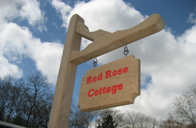 Gallows Style House Sign