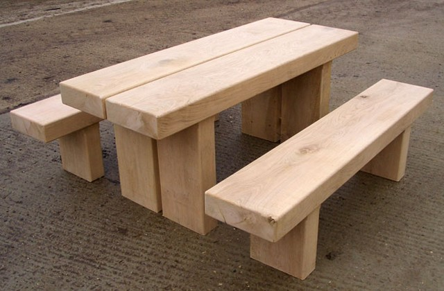 Bookham Table Benches Tables And Seats Countryside Furniture - Park bench and table