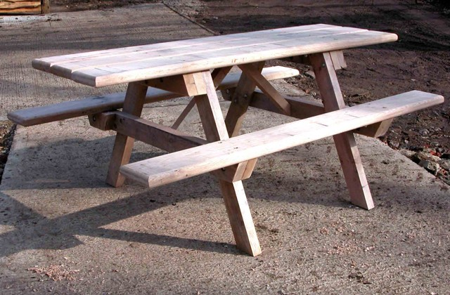 Headley Picnic Table With Wheelchair Access Tables And Seats - Wheelchair picnic table